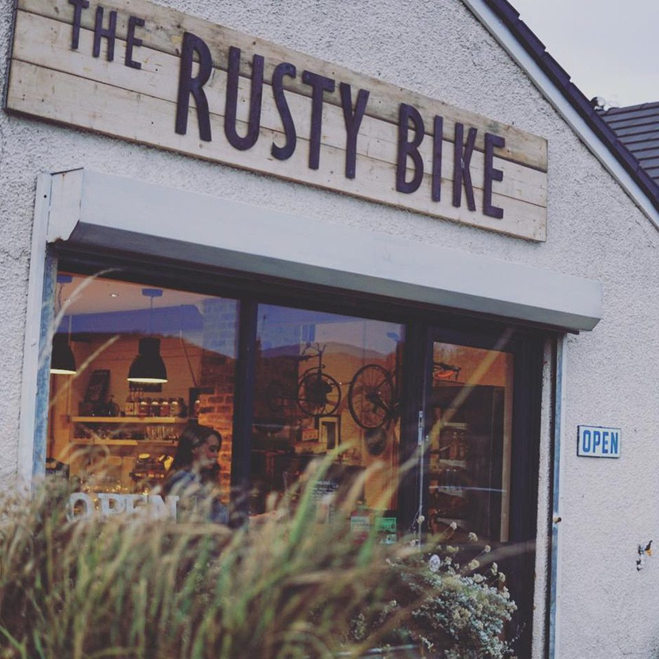 outside the rusty bike