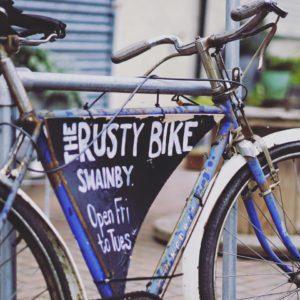 the rusty bike bikethe rusty bike sign